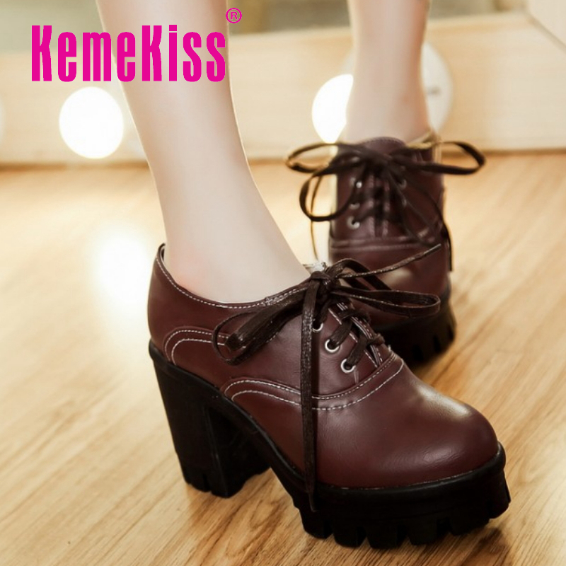 women platform high heel shoes sexy quality spring fashion heeled footwear brand pumps heels shoes size 34-43 P16333