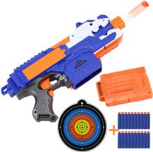 Scharfschützengewehr Nerf Kunststoff Gun Weiche Kugel Spielzeugpistole 20 Kugeln 1 Ziel Elektrische Pistole Spielzeug Weihnachten Geburtstagsgeschenk Spielzeug Für Kind(China (Mainland))