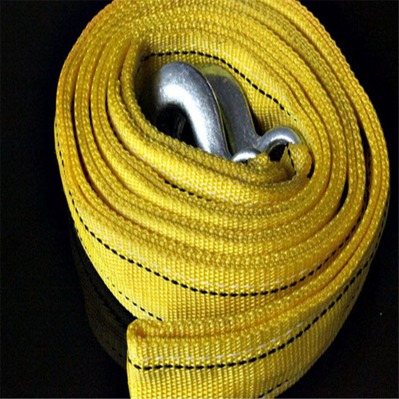 Hot Classic Free Shipping Car Accessory Pulling Tow Cable Twofold Towing Strap Rope Hooks 5Tons