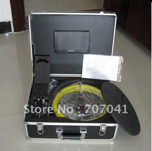 Free Shipping Sewer Inspection Camera Pipe Inspection With DVR TEC-Z710DM with 20m cable(China (Mainland))