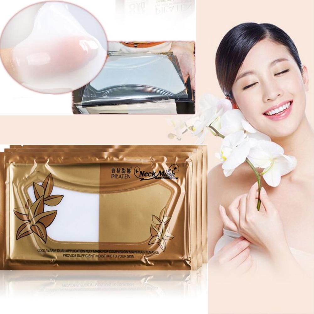 PILATEN Crystal Collagen Neck Mask 2packs/lot Women Anti-aging Anti-wrinkle Whitening Moisturizing Mask Neck Care(China (Mainland))