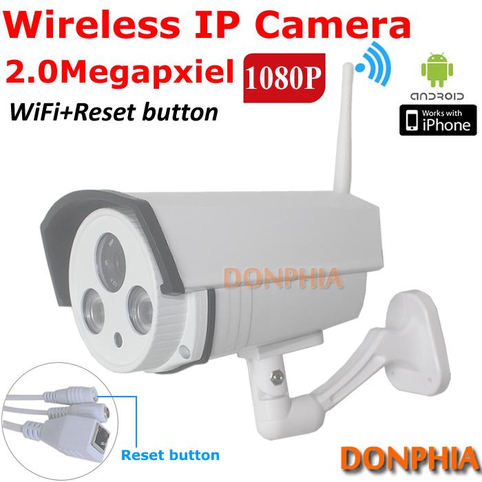 Promotion! Waterproof 2MP 1080P HD Wireless IP Camera Wifi Outdoor ONVIF CCTV Camera IR Night Vision Home Security Surveillance(China (Mainland))