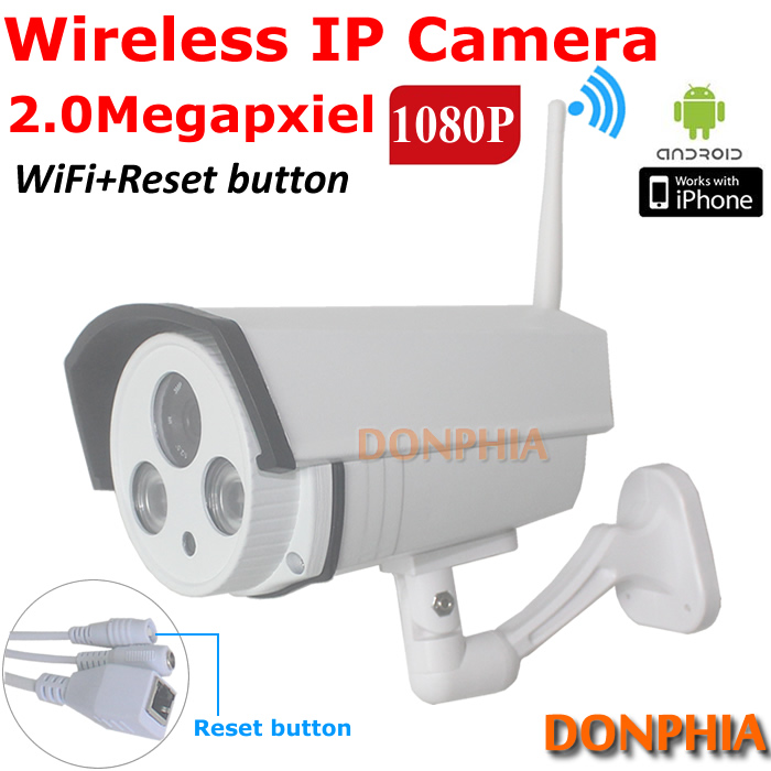 Promotion! Waterproof 2MP 1080P HD Wireless IP Camera Wifi Outdoor ONVIF CCTV Camera IR Night Vision Home Security Surveillance(China (Mainland))