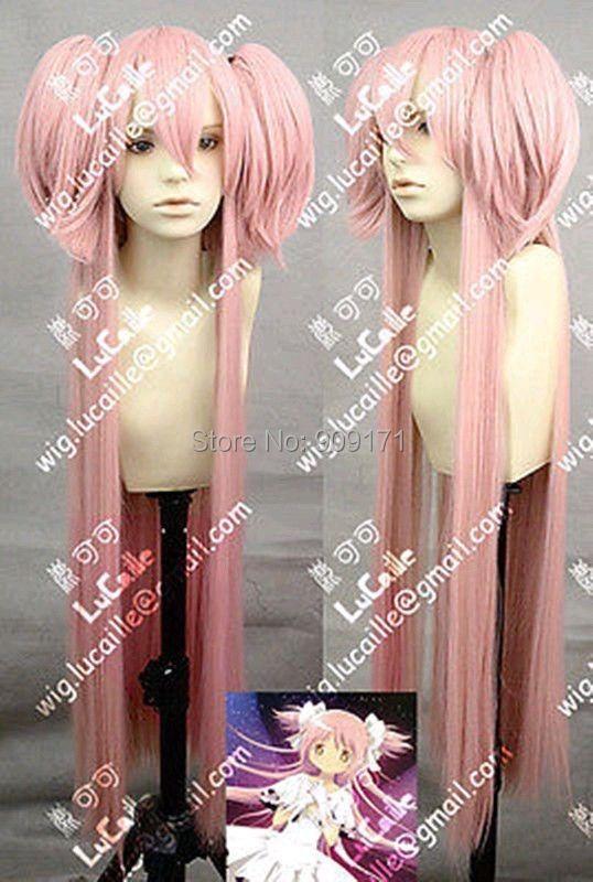 free Shipping**HOT sell ! Magical Girl Round kaname madoka Long Dark Pink 39 inches Cosplay Wig