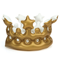 20 15cm Inflatable Crown Kids Birthday Party Hats Thicken PVC Inflated CosPlay Tools Stage Props Best