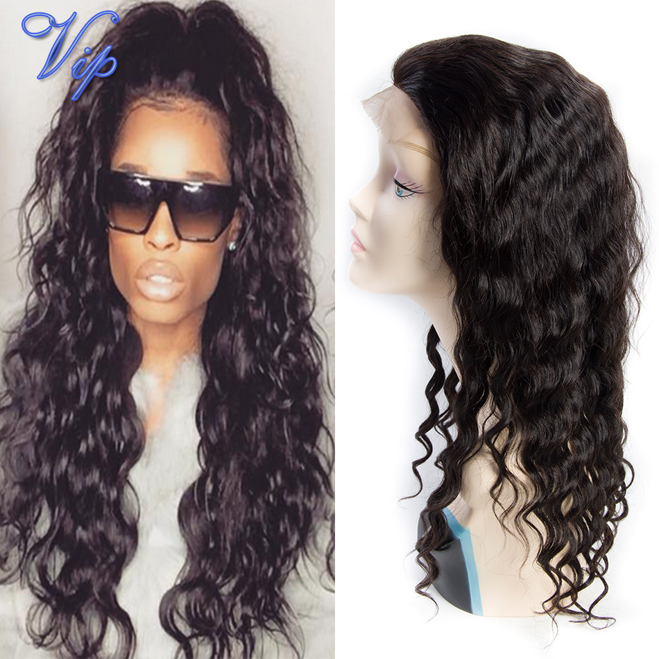 7A Glueless Lace frontal Human Hair Wigs wet and Wavy Lace Front Wigs Unprocessed Virgin Brazilian Water Wave For Black Women(China (Mainland))