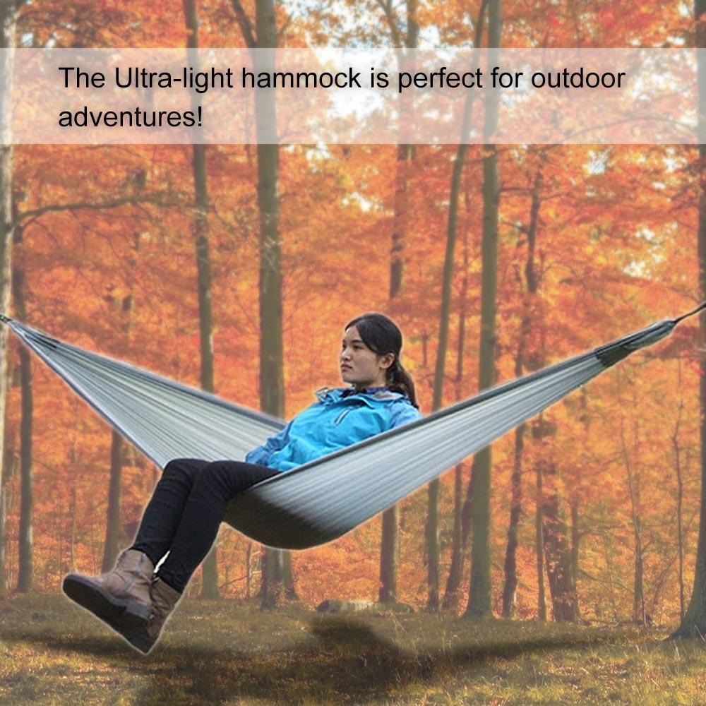 LIXADA Hammock Single Person Camping Hammock for Travelling Hiking Treking with Attached Stuff Sack Camping Furniture hamac(China (Mainland))