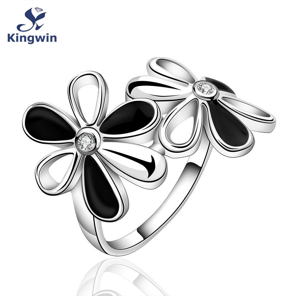 Daisy bloom ring hot sales 2016 new design fashion purity silver 925 jewelry women flower rings female accessory wholesale(China (Mainland))