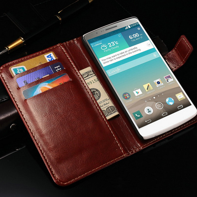 Vintage Wallet With Stand PU Leather Case For LG Optimus G3 D855 D850 Phone Bag New 2015 Skin With Card Holder Drop Ship(China (Mainland))