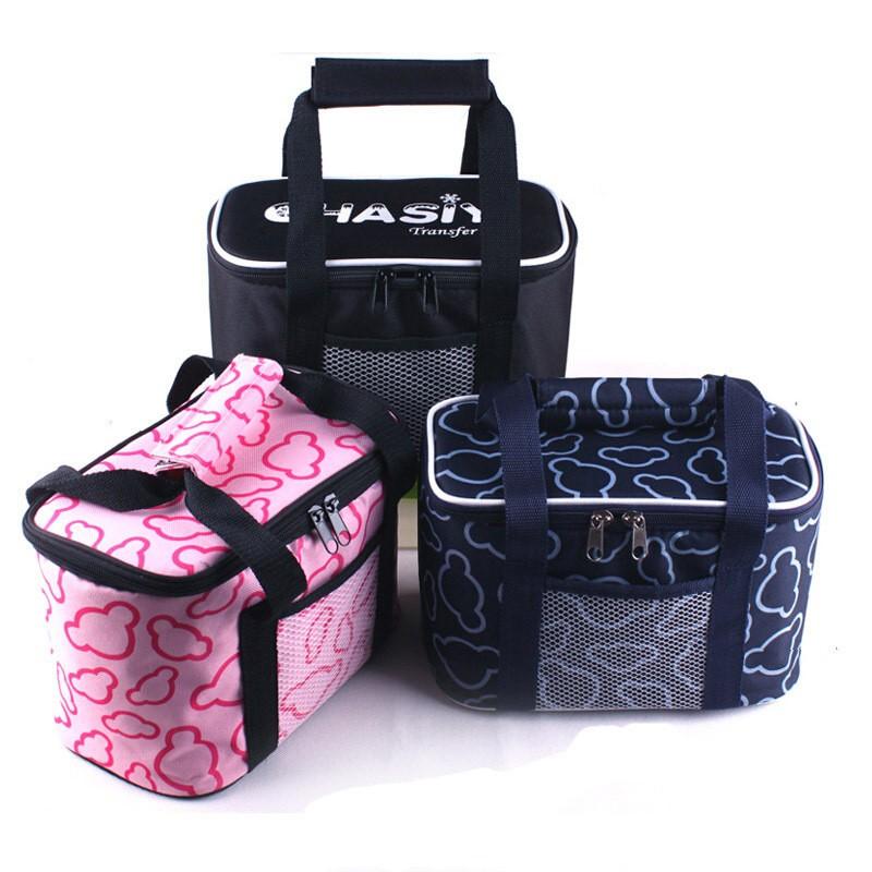 Portable Ice Bags Leisure Outdoor Picnic Packet Bento Box Large Volume Thermal Handbag 3 Color Waterproof Cooler Bag A025(China (Mainland))