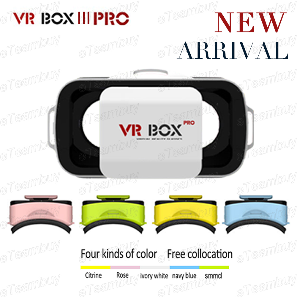 """2016 Smart NEW VR BOX 3.0 PRO 3D Virtual Reality Glasses Headmount VR Google Cardboard 3D Game Movie for 4.5"""" - 5.5"""" Smart Phone(China (Mainland))"""