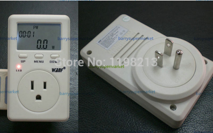 5pcs US American Version WF-D02A Saving Energy Wanf Mini WATT Electricity Power Energy Usage Ammeter Meter Monitor AC Voltage<br><br>Aliexpress