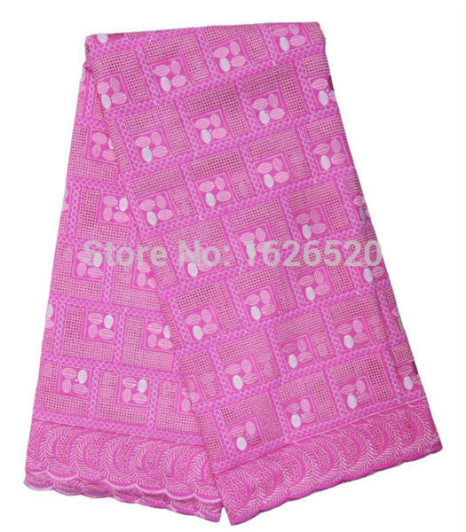Panic Buying Square With Rhinestone Design African Cotton Lace Fabric For Sewing High Quality Pink Swiss Voile Lace Material(China (Mainland))