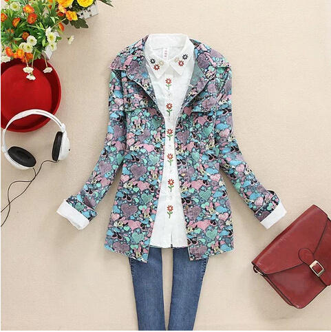 Женская куртка Women fashion denim jacket coats S1381 women cardigan coat