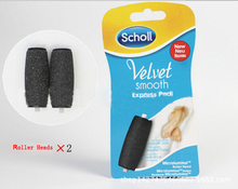 2015 New Scholl Velvet Smooth Pedi Hard Skin 2 x Remover Refills Replacement Rollers feet care