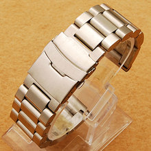 Buy New Arrival High 22/24/26mm Width Stainless Steel Watch Strap Band Mens Wrist Watches for $20.19 in AliExpress store