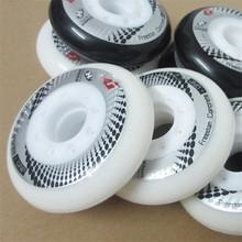 8 Pcs Hyper + G GRIP béton Inline patins à roulettes de roue, 84A FSK Slalom freinage de patinage pour SEBA Powerslide Rollerblade roues(China (Mainland))