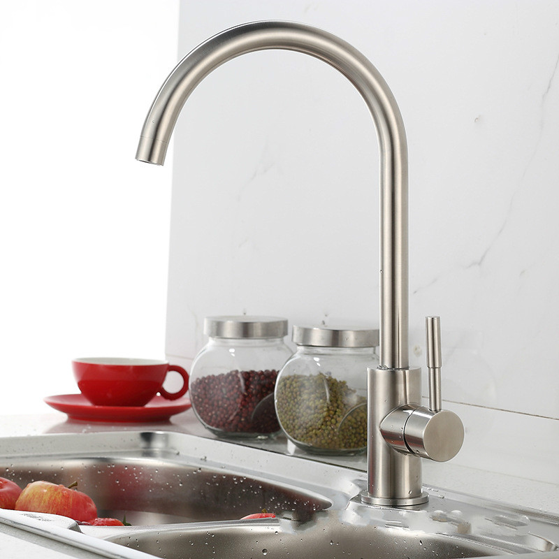 2016 Torneira Torneira De Cozinha Tap 304 Stainless Steel Kitchen Faucet Hot And Cold Dish Basin Lead Free Fine Wire Drawing(China (Mainland))