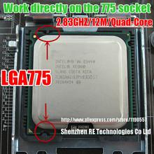 Intel Xeon e5440( 2,83 ghz/12m/1333) Prozessor nahe Core 2 Quad q9550 cpu, funktioniert auf lga775 mainboards keine Notwendigkeit adapter(China (Mainland))