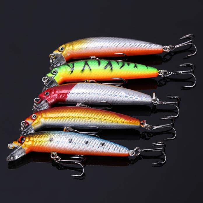 Artificial Bait Fishing Lure 7cm 4 5g Hard Bait Fish Hook Color Random