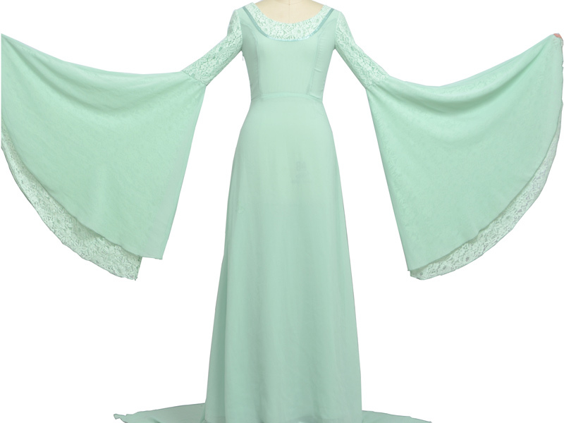Arwen Dress Costume Arwen Green Dress Costume