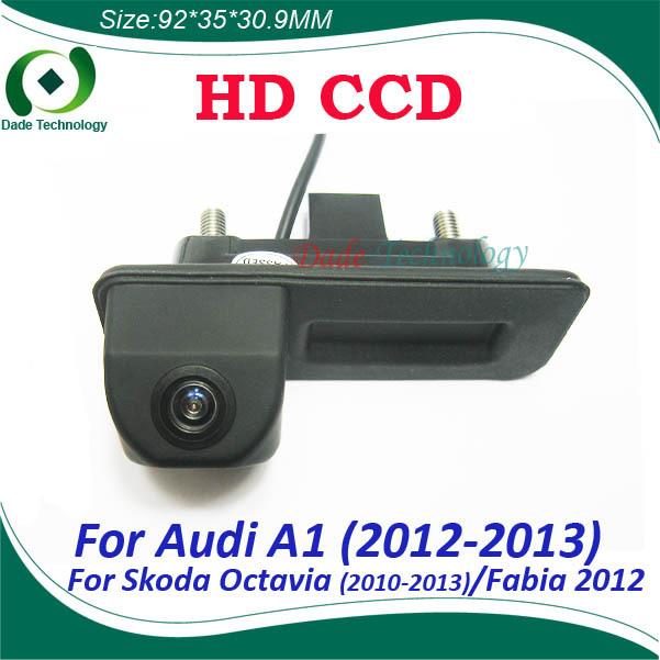 Night vision CCD HD car handle trunk camera car rear view camera For Audi A1 Skoda octavia Fabia boot lock switch parking camera(China (Mainland))