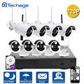 Techage 720P WIFI CCTV System 8CH HD Wireless NVR Kit Outdoor IR Night Vision 8PCS IP