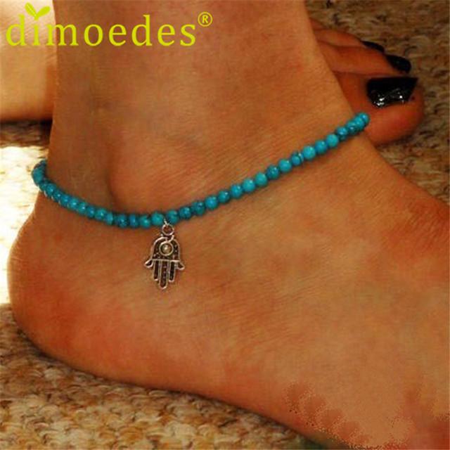 Новый 2015 Дешевые женщины Boho Бусы браслет ноги украшения Пляж ног браслет бижу ...