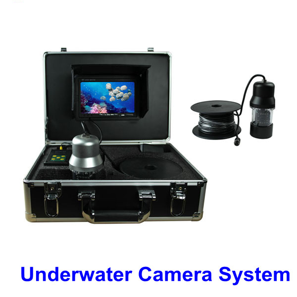 """Rotate 360 Degree 600TVL Underwater Fishing Camera Video Fish Finder 7"""" TFT LCD 20M Cable 14 pc White LED(China (Mainland))"""