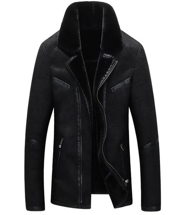 Fall winter clothes Men Plus velvet Suede fur coat Short locomotive Leather jackets mens Plus velvet Lapel biker jacket 4XL Одежда и ак�е��уары<br><br><br>Aliexpress