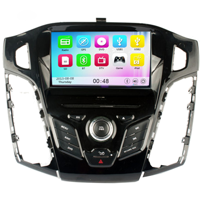 Wince 6.0 Car Radio for Ford Focus 2012 Car DVD+GPS+RDS+Bluetooth+A2DP+Phone book+USB & SD+Support for iPod for iPhone+AUX(China (Mainland))