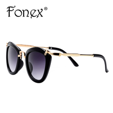 2016 New Fashion Cool Retro Baby Sunglasses For Children Boy Cat Eye Sunglass Vintage Child Kids Sun Glasses Girls F2915 FONEX