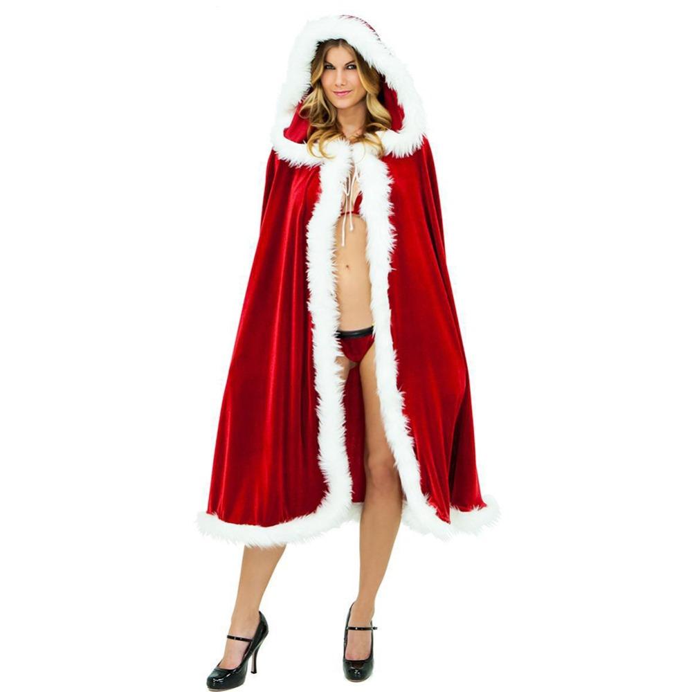 Lisli Santa Father Hooded Cloaks Christmas Party Cosplay Winter Costume Velvet Cape 01C0165(China (Mainland))