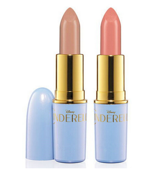 Makeup Limited Edition Cinderella Lipstick High Quality Nude Lipsticks 2 Color Waterproof Lip Matte Lipstick Baby Beauty Batom(China (Mainland))