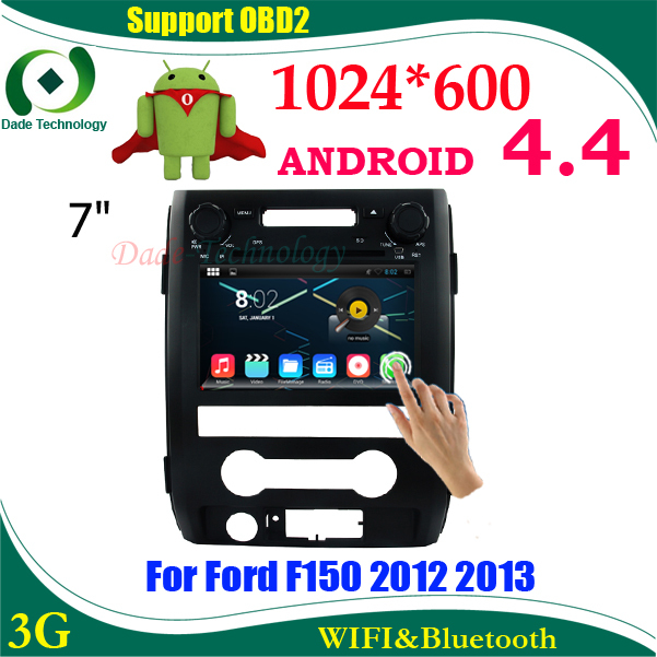 2 din Car DVD gps Android 4.4 for ford f150 2012 2013 double din car multimedia car audio dvd player HD 1024*600(China (Mainland))