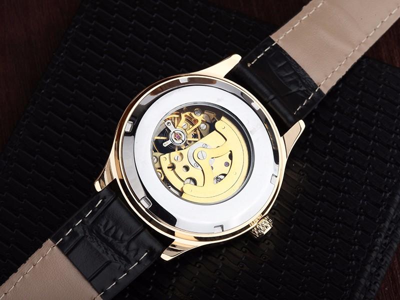 WHATCH WACHES Механические мужские Автоматические часы Мужчины Моды Кожа 007 Часы топ известный китай бренд водонепроницаемый армии наручные часы