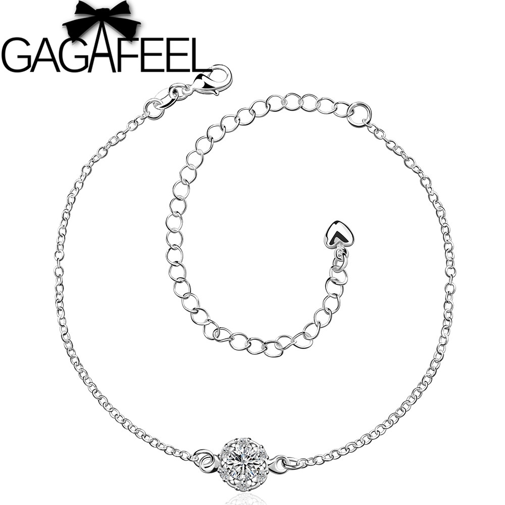 Fashion Jewelry Beautiful Austrian Crystal Anklets Women Silver Plated Mix Color Options SA033 - Gagafeel Flagship Store store