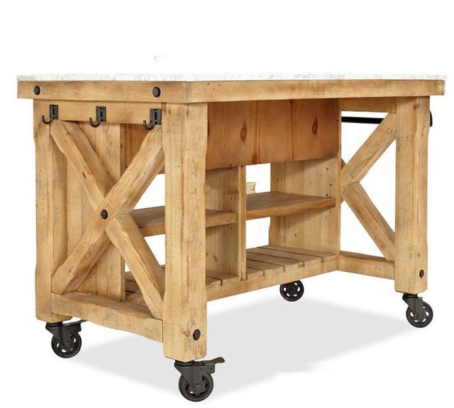 Tianqi muebles pa s de am rica de madera hierro forjado for Mesa carrito auxiliar de cocina