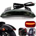 Motorcycle Green Black Rear Fender Edge LED Taillight Tail Light Brake Stop Light For Harley XL883