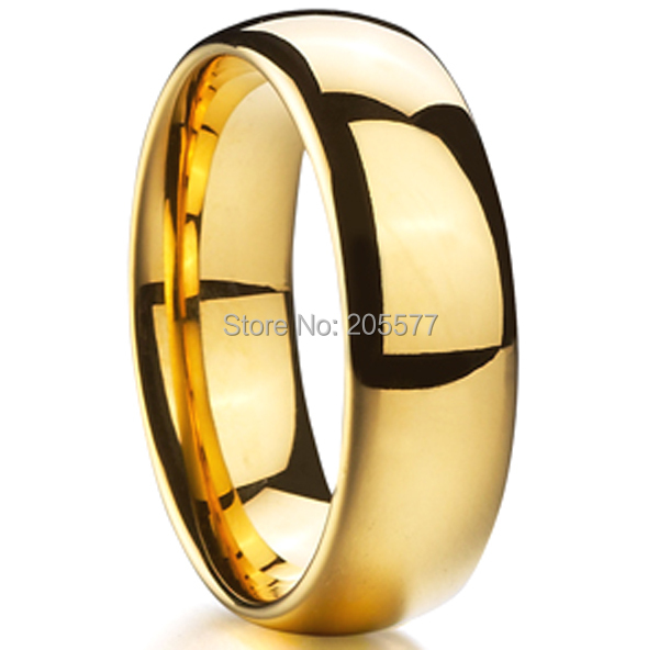 Cheap Wedding Bands For Women: Discount Cheap 18K Gold Plated Wedding Band Tungsten
