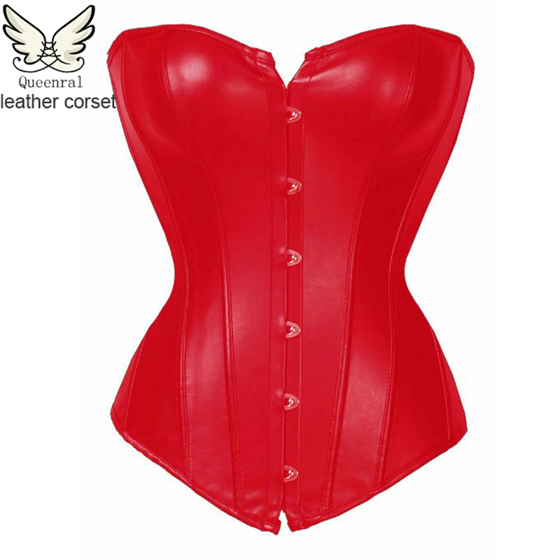 leather corset Bodice corset sexy gothic chest binder leather corsets and bustiers gothic clothing sexy korsett for women(China (Mainland))