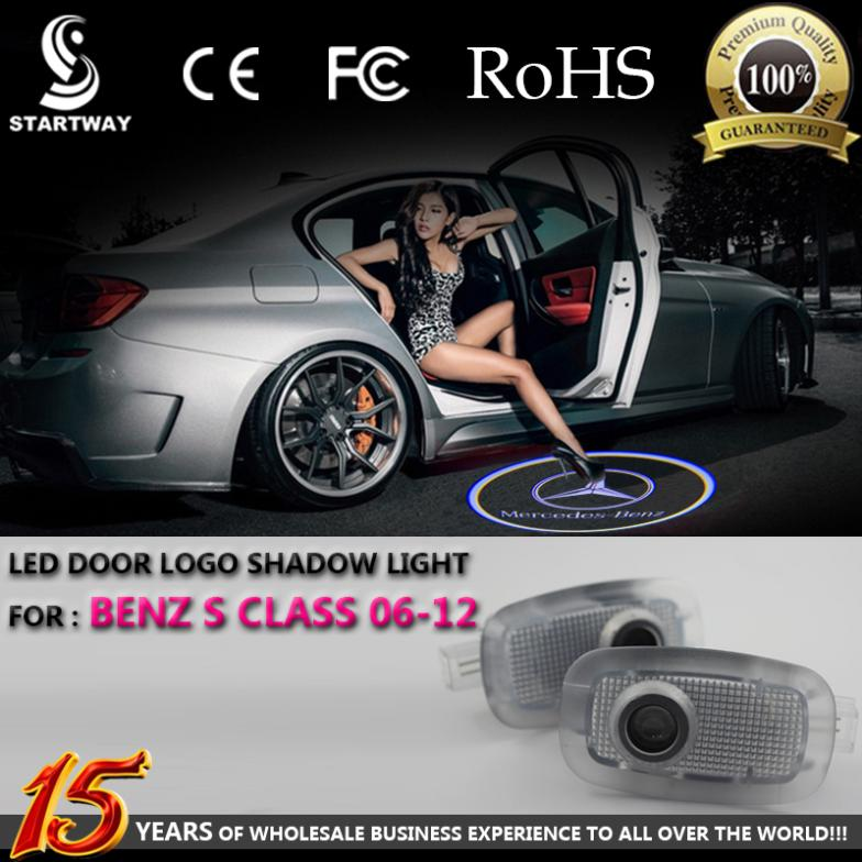 LED Logo Car Door Shadow Projector Light For Mercedes Benz S Class 2006 2007 2008 2009 2010 2011 2012(China (Mainland))