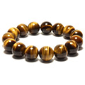 Fashion Trendy 100 Natural A Agate Tiger s eye Beads Round Beads Stretch Bracelet Women Men