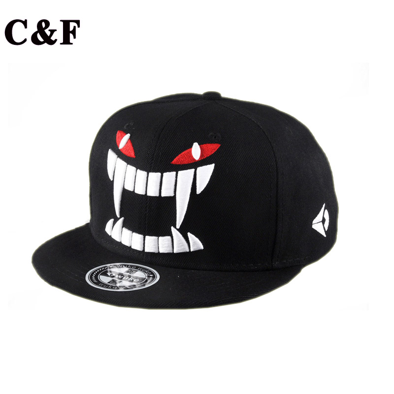2016 New Hot Sale Sports Hat Design Baseball caps Hats Summer Cap Big teeth Korean flat along Cap Hip hop Skate hat(China (Mainland))