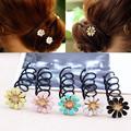 1Pair Fashion Women Alloy Daisy Flower Spin Screw Hair SticksTwist for Girls Wedding Party Hair Accessories