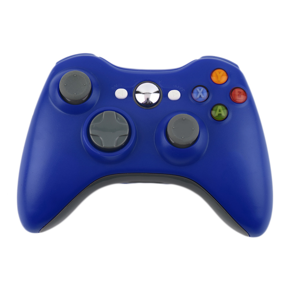 Blue Color 2.4G Wireless Gamepad Joypad Game Remote Controller Joystick With Pc Reciever For Microsoft For Xbox 360 Console<br><br>Aliexpress