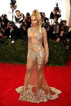 Beyonce Red Carpet Gala Cristalli Merletto Backless Della Sirena Celebrità Vestiti Da Sera 2016 Manica Lunga Sheer di Promenade abendkleider(China (Mainland))
