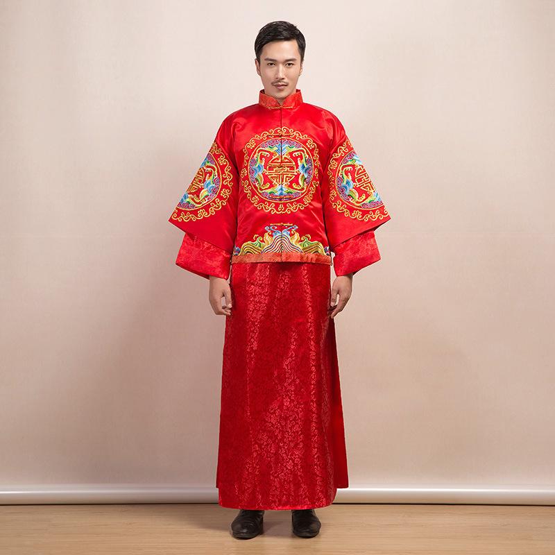 popular traditional chinese wedding dress menbuy cheap