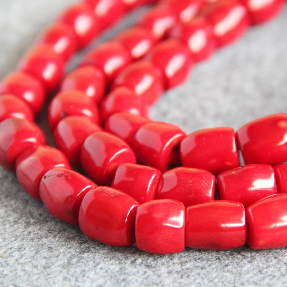 Hot New For Necklace&Bracelet 12*14mm Natural Red Coral Beads Jasper DIY Beads 15inch Stones Jade Beads 15inch Jewelry Making(China (Mainland))