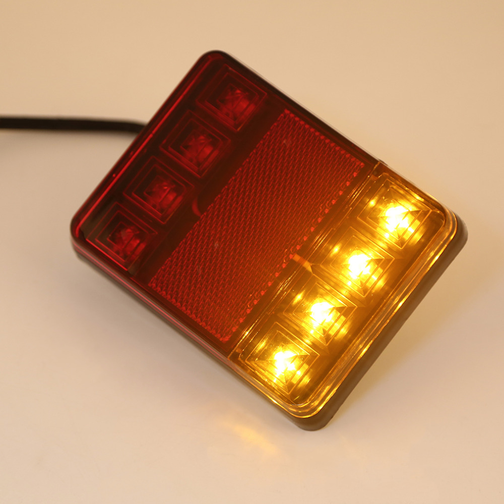 2 Units Taillights Warning Lights Truck Parts DC 12 V Tailights Car Auto Rear Tow Truck Boat Car 8 LED Bulbs Styling(China (Mainland))